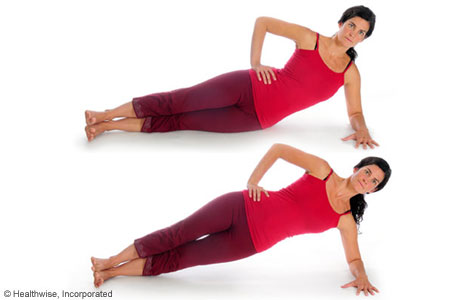 Picture of how to do the intermediate side-plank exercise