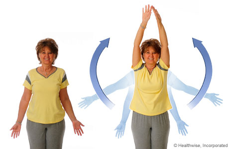 How to do the shoulder blade stretch exercise