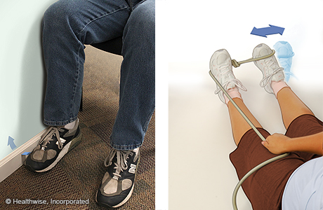 Ankle eversion strengthening exercises for an ankle sprain