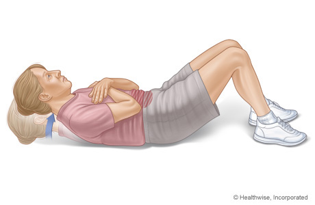 How to do the curl-ups exercise