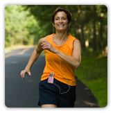 Photo of a woman jogging
