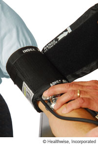 Blood pressure cuff that fits correctly