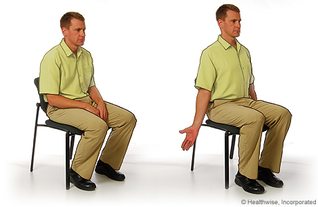 Shoulder and chest stretch to ease shoulder aches and fatigue