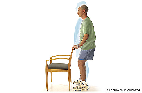 Picture of shallow standing knee bends exercise