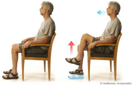 Picture of the leg-lifts exercise for COPD