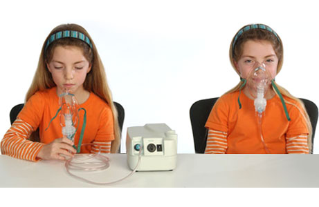 Picture of a nebulizer and face mask