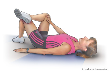 Picture of hip rotator stretch