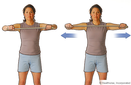 Picture of the chest-level pull exercise