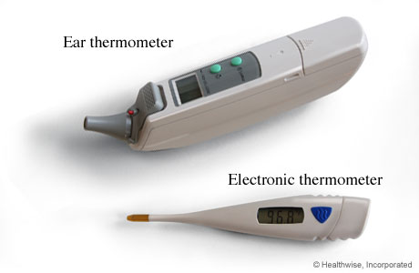 Ear thermometer and electronic thermometer