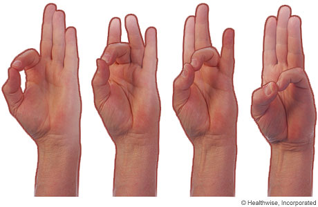 Picture of hand exercises for osteoarthritis