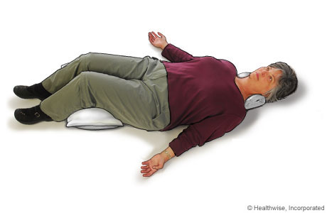 Picture of how to do the relax-and-rest position