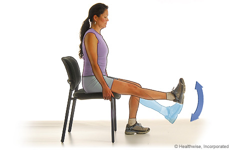 Picture of a quadricep strengthening exercise (knee extension)