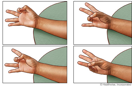 Thumb and finger opposition exercise