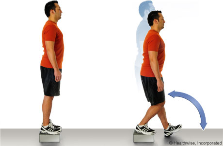 Picture of how to do step-down exercise