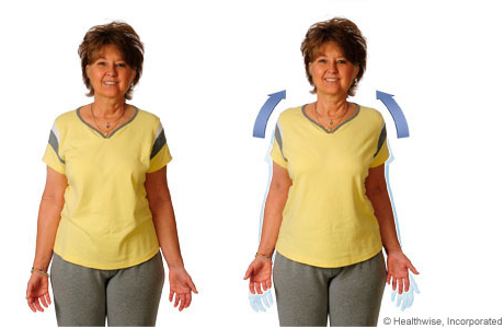 Picture of how to do the shoulder-shrug exercise