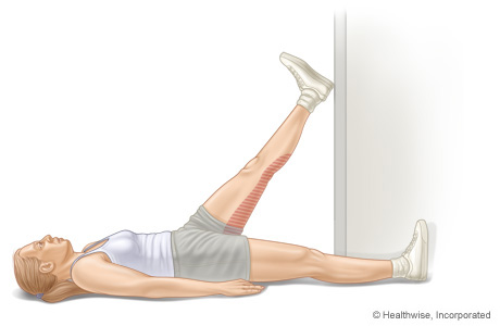 Picture of hamstring stretch in doorway
