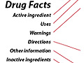 Example of an over-the-counter Drug Facts label